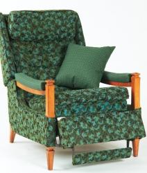 Fauteuil vert de type «La-Z-Boy» vintage 1960