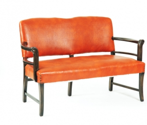 Causeuse orange vintage fin 1930