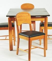 Table avec rallonge intégrée amovible + 4 chaises 1945