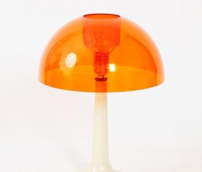 Lampe orange en plastique vintage 1970
