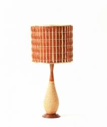 Lampe en teck vintage 1960